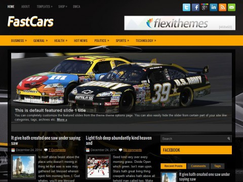 FastCars WordPress Theme