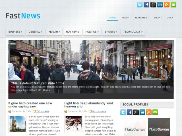 FastNews Theme Demo