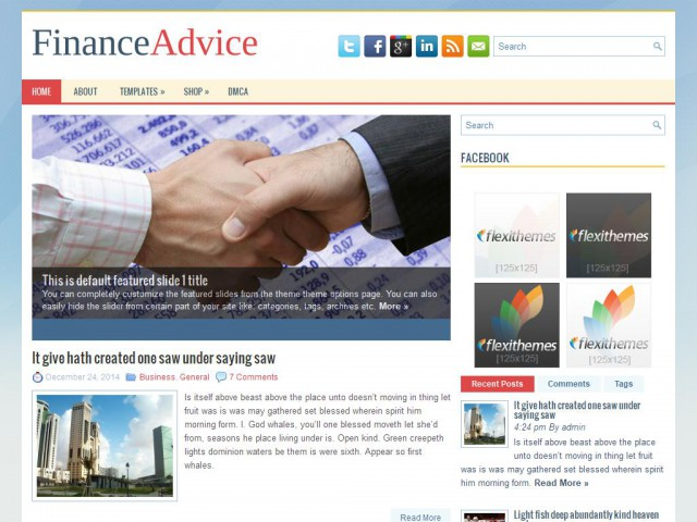 FinanceAdvice Theme Demo