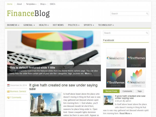 FinanceBlog Theme Demo