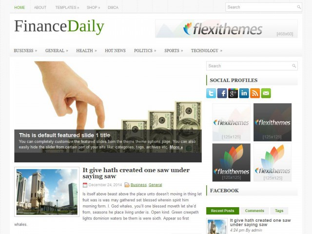 FinanceDaily Theme Demo