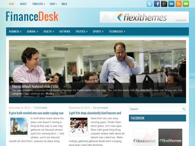 FinanceDesk Theme Demo