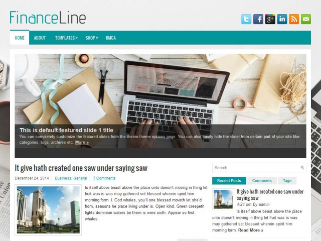 FinanceLine Theme Demo
