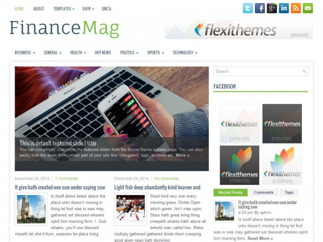 FinanceMag Theme Demo