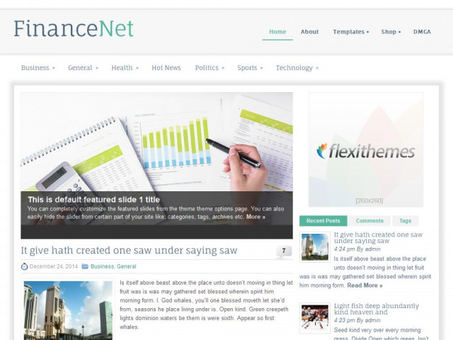 FinanceNet Theme Demo