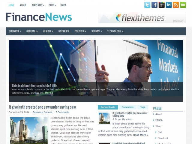 FinanceNews Theme Demo
