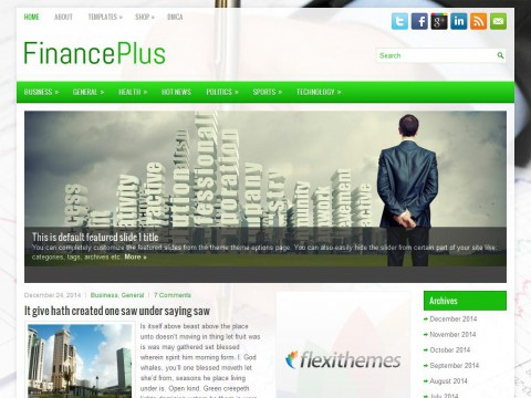 FinancePlus WordPress Theme