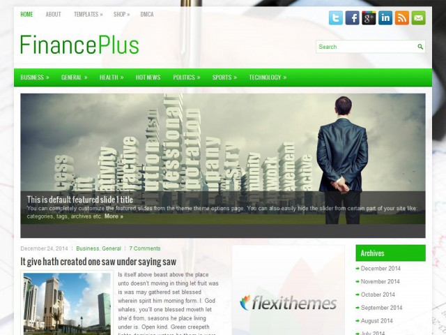 FinancePlus Theme Demo