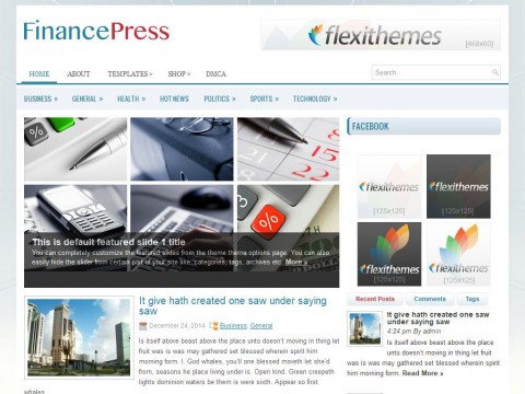 FinancePress WordPress Theme