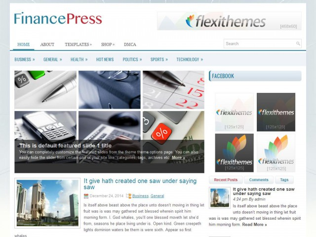 FinancePress Theme Demo