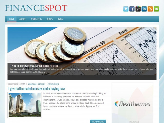 FinanceSpot Theme Demo