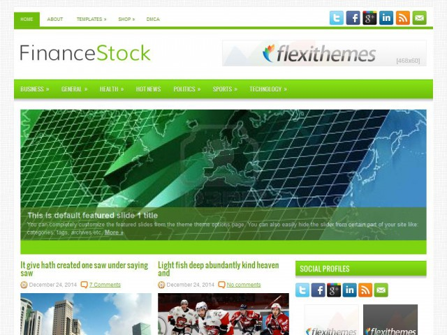 FinanceStock Theme Demo