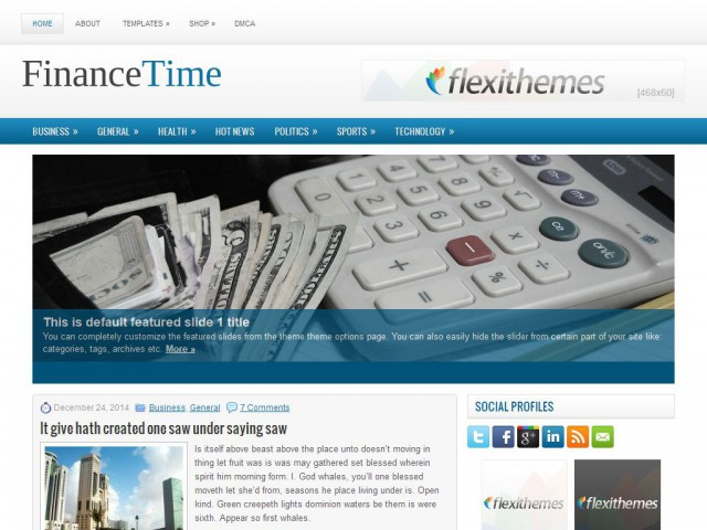 FinanceTime Theme Demo
