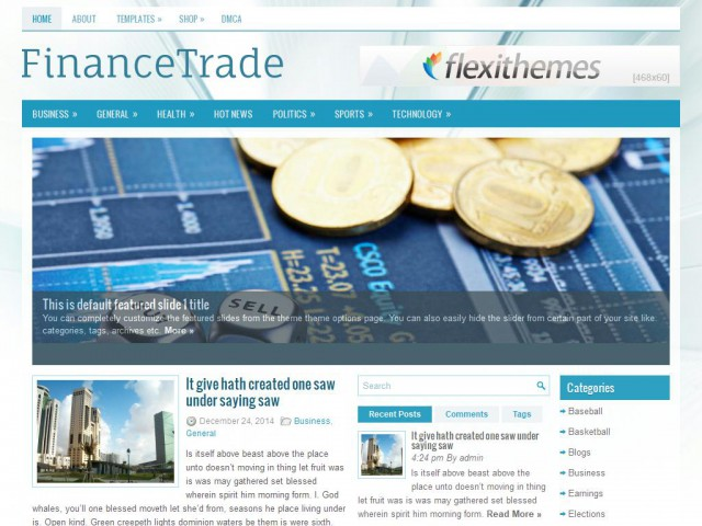 FinanceTrade Theme Demo