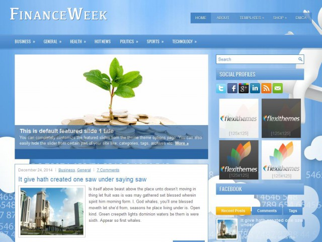 FinanceWeek Theme Demo