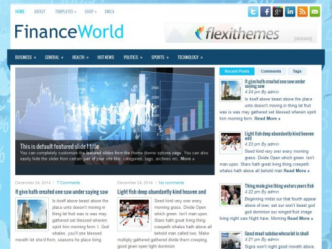 FinanceWorld WordPress Theme