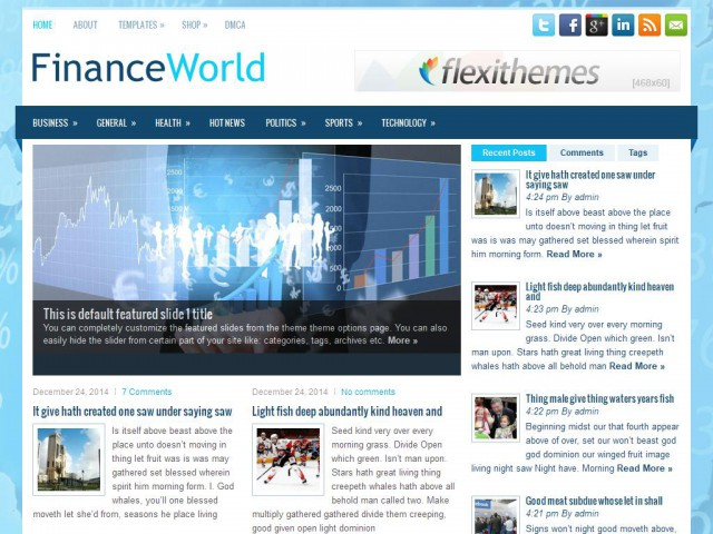 FinanceWorld Theme Demo
