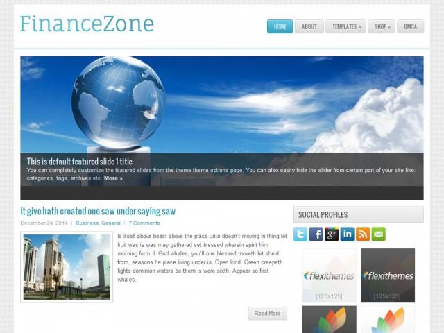 FinanceZone Theme Demo