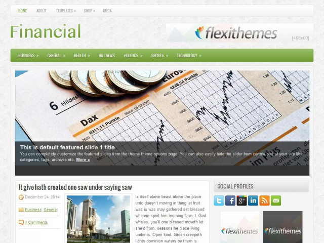 Financial Theme Demo