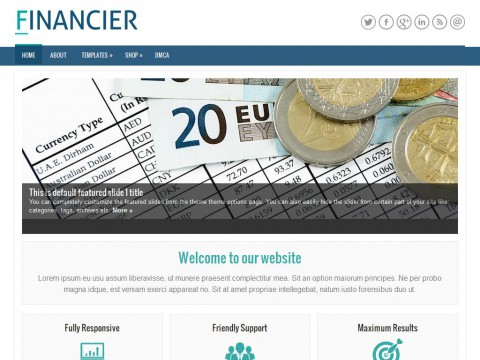 Financier WordPress Theme