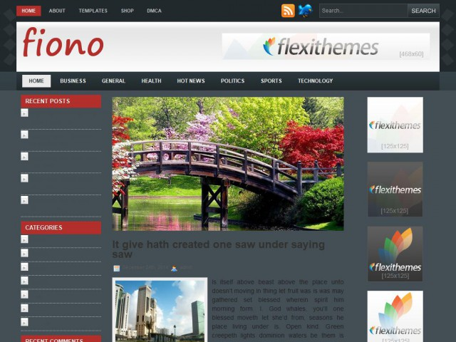 Fiono Theme Demo