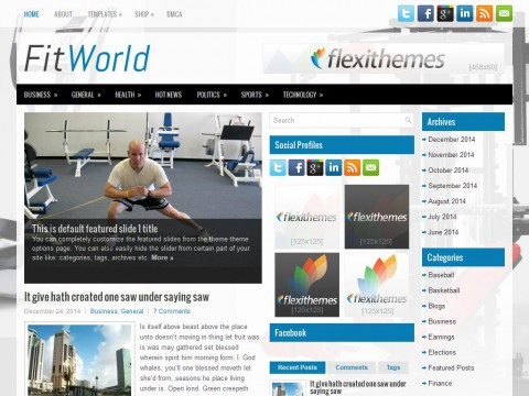 FitWorld WordPress Theme
