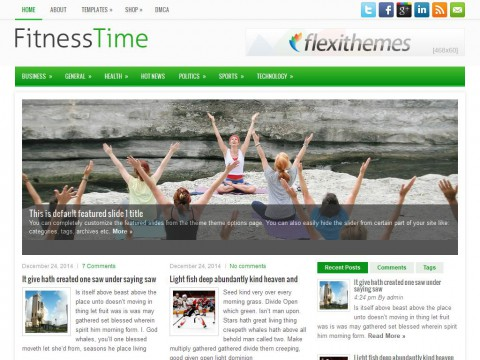 FitnessTime WordPress Theme