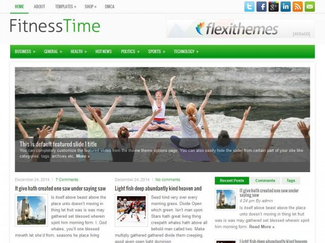 FitnessTime Theme Demo