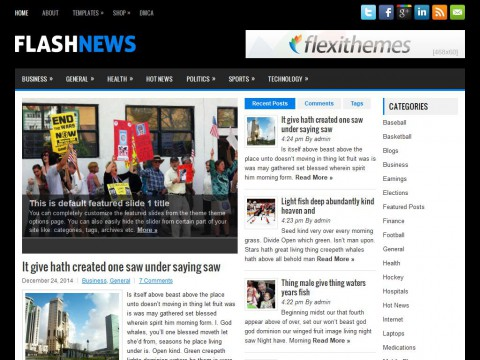 FlashNews WordPress Theme