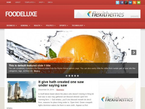 FooDeluxe WordPress Theme