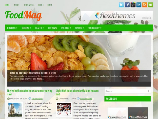 FoodMag Theme Demo
