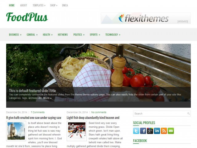 FoodPlus Theme Demo