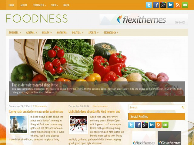 Foodness Theme Demo