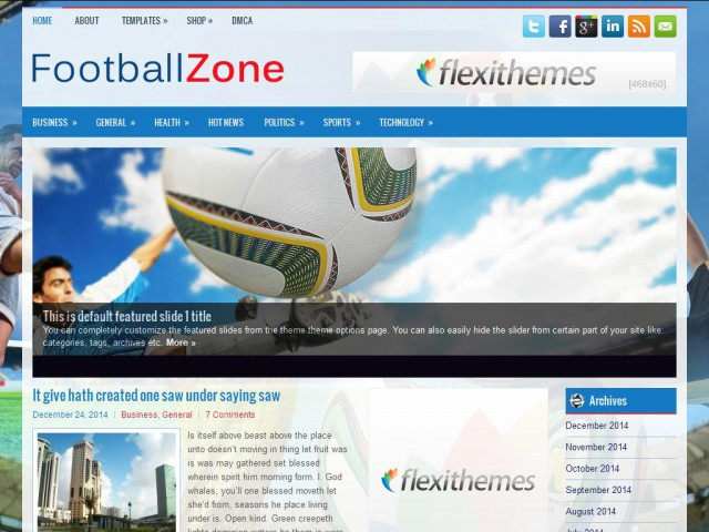 FootballZone Theme Demo
