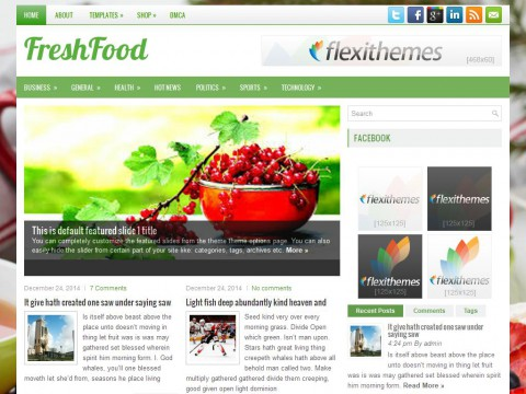 FreshFood WordPress Theme