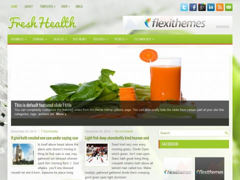 FreshHealth WordPress Theme