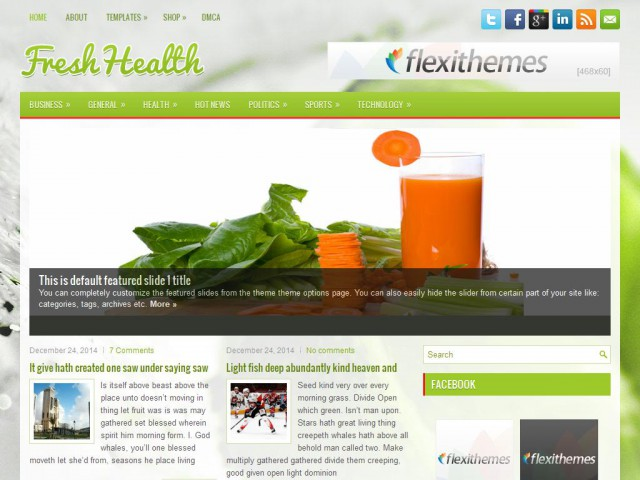 FreshHealth Theme Demo