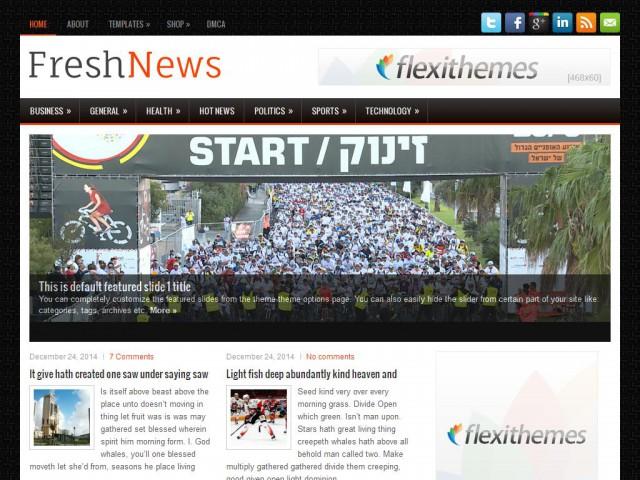 FreshNews Theme Demo