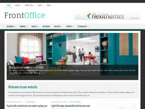 FrontOffice WordPress Theme