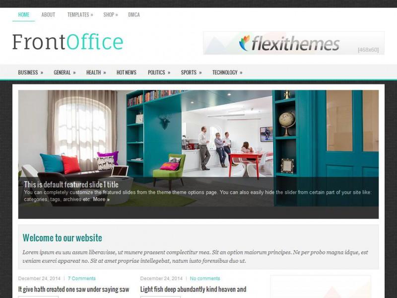 FrontOffice - A Free Business/Portfolio WordPress Theme by FlexiThemes