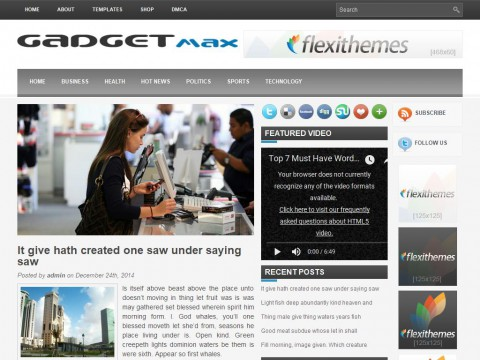 GadgetMax WordPress Theme