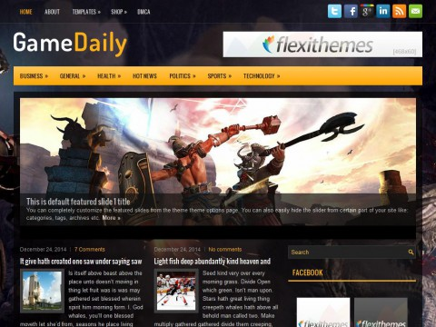 GameDaily WordPress Theme