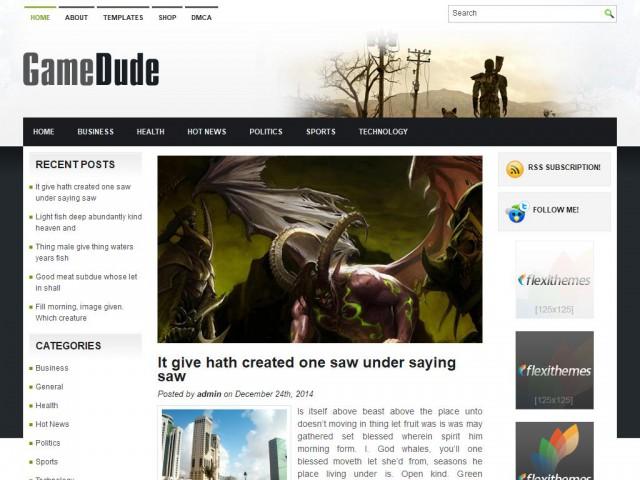 GameDude Theme Demo