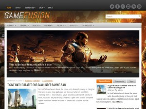 GameFusion WordPress Theme