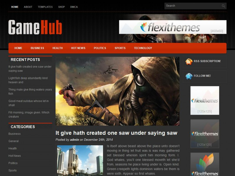 GameHub - Games WordPress Theme For 2019