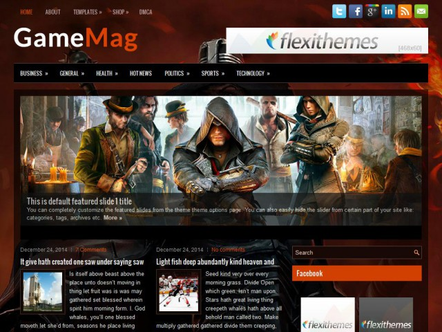 GameMag Theme Demo