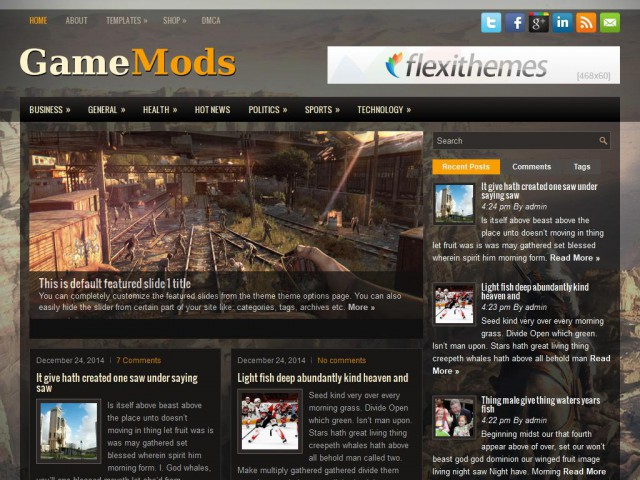 GameMods Theme Demo