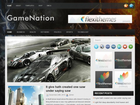 GameNation WordPress Theme