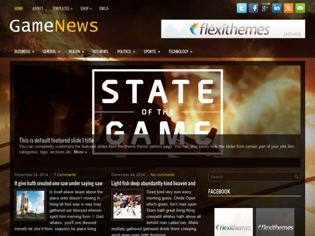 GameNews Theme Demo