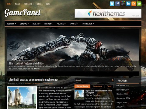 GamePanel WordPress Theme
